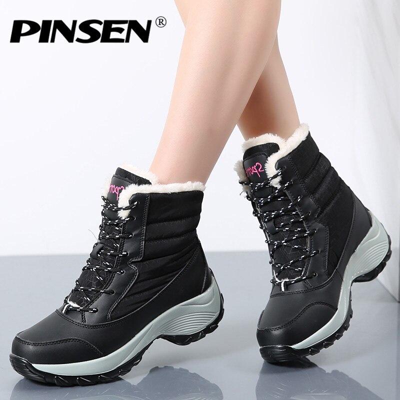 4dfda6c23 Купить дешевый PINSEN женские зимние сапоги, Новое поступление, модные брендовые  женские классические непромокаемые размер 35 41 онлайн