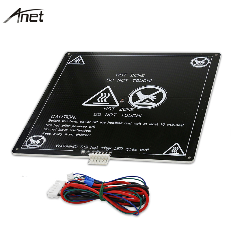 Anet Aluminum Heatbed 12V Black MK3 Hotbed MK2B & MK2A Print Build Plate With cable for Mendel RepRap i3 3D Printer Hot bed anet a6 a8 mk3 12v heatbed aluminum heated bed 220mm 220mm 3mm mk2b & mk2a for mendel reprap i3 3d printer hotbed with cable