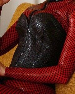 Image 4 - Phụ nữ Phù Hợp Với Đồ Lót Sexy Latex Catsuit Vũ Nữ Thoát Y Quần Áo Thời Trang Bodystocking Cô Gái Khiêu Dâm Spandex Babydoll Cộng Với Kích Thước S 4XL