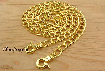 Bag chain purse chain for bag metal shoulder chain cross body strap chain gold 106 cm AC63