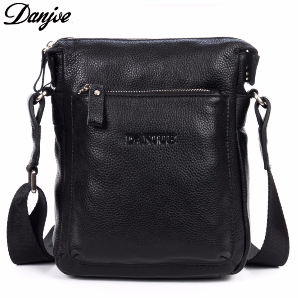 DANJUE Shoulder Bag Man Crossbody Black Casual Small Brand Genuine Leather Messenger Men Business High Quality Male Briefcase тарзан blu ray 3d