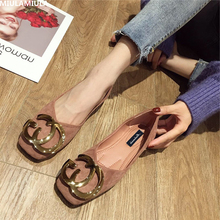 MIULAMIULA Brand Designers 2019 Spring Luxury Gold Metal Decoration Woman Flats Shoes Soft Bottom Slip On Loafers Black Pink