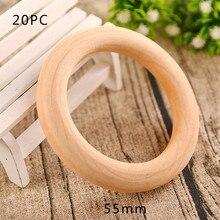 20 шт 35/55/70 мм деревянные поделки соединители круги натуральные деревянные кольца украшения для праздничных поделок