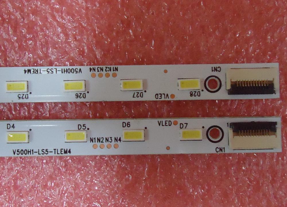 US $15 57 14% OFF|FOR konka LED50R5100DE FOR skyworth 50E65SG Article lamp  4A D071072 4A D071074 V500HK1 LS5 V500H1 LS5 TLEM4 1piece=28LED 315MM-in