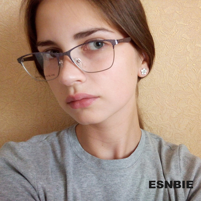 esnbie metal eyeglass frames 2017 eyewear frames female womens eye glass frames butterfly optical glasses frame - Womens Metal Eyeglass Frames