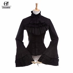 ROLECOS-New-Fashion-Lolita-Style-Women-Blouse-Stand-Collar-Long-Sleeve-Black-Lolita-Blouses-Vintage-Gothic
