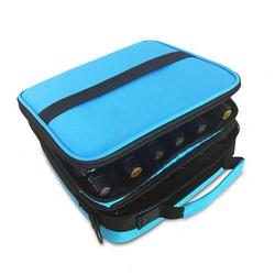 42 Bottles Essential Oil Carrying Case Make Up Storage Bag Double Zipper Cosmetic Bag 3 Colors For Traveling Sturdy