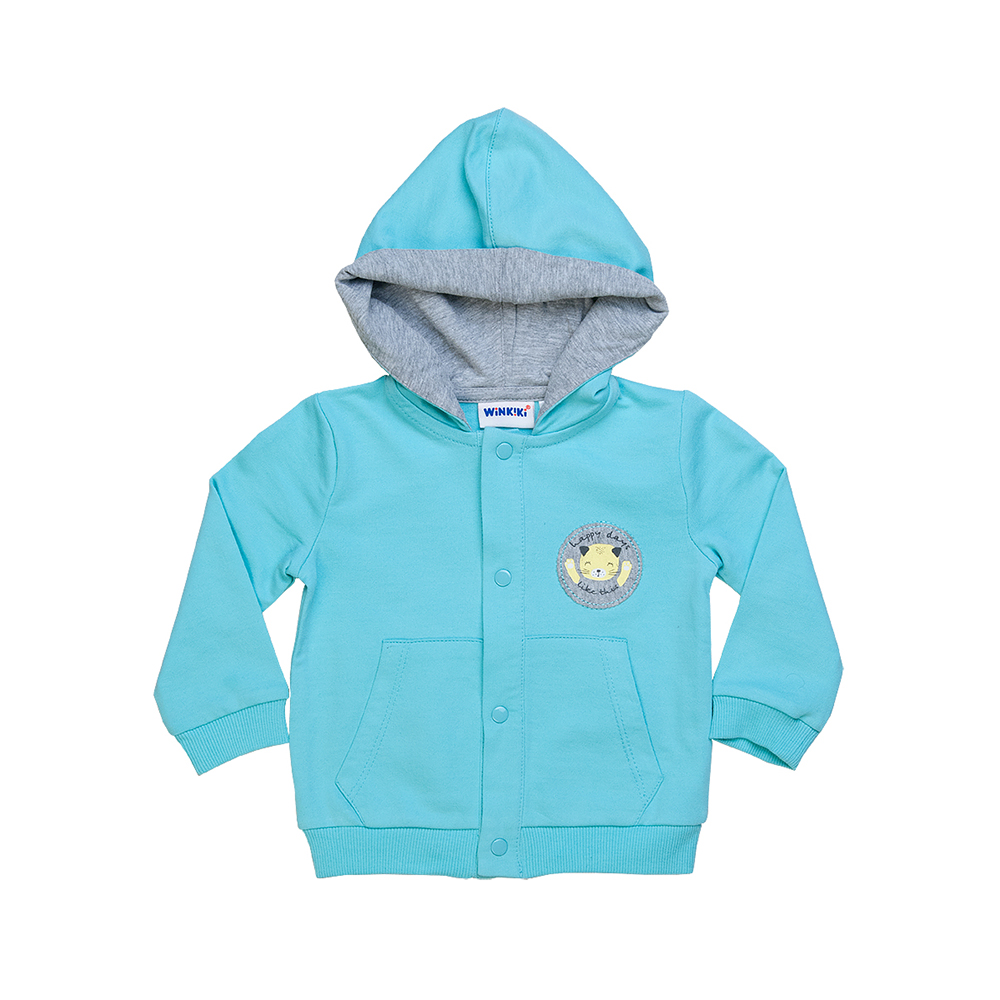 Hoodies & Sweatshirts Winkiki for boys and girls WN81005 Cardigan Sweatshirt Coat Children clothes Kids 2018 europe and the united states spring autumn baby toddler kids girls cotton clothes butterfly cardigan tops pants outfits set