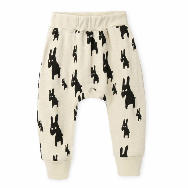 Free shopping 2017 New fashion kids Harem Pants Boys,100%Cotton high quality,Cute Animal printed Children Pant Wholesale&Retail