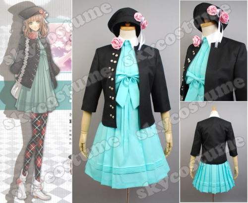 Amnesia Heroine Outfit Uniform Cosplay Costume Dress+Hat+Jacket+Socks For Halloween Party Suit Adult Women Full Set