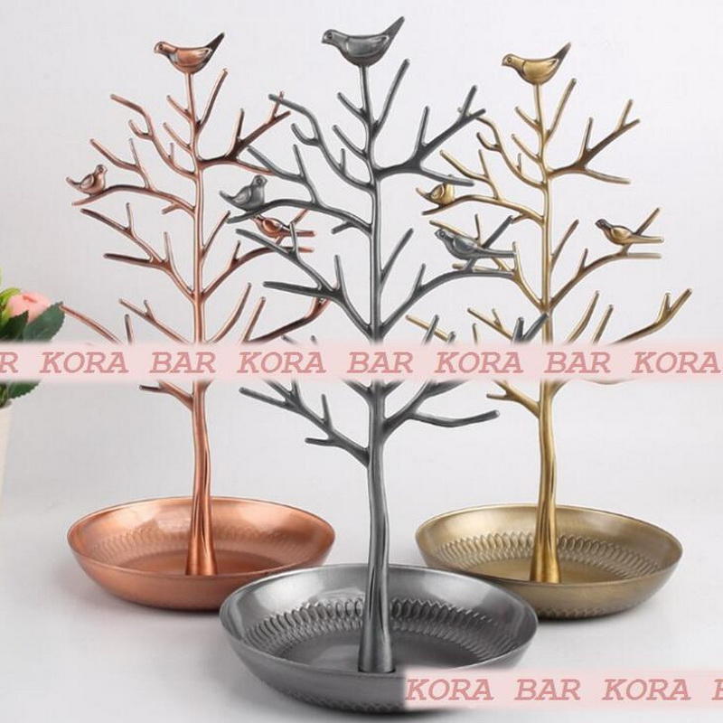 Round bottom steel fruit plate tree shape stainless steel creative fruit & vegetable tools creative metal fruit plate