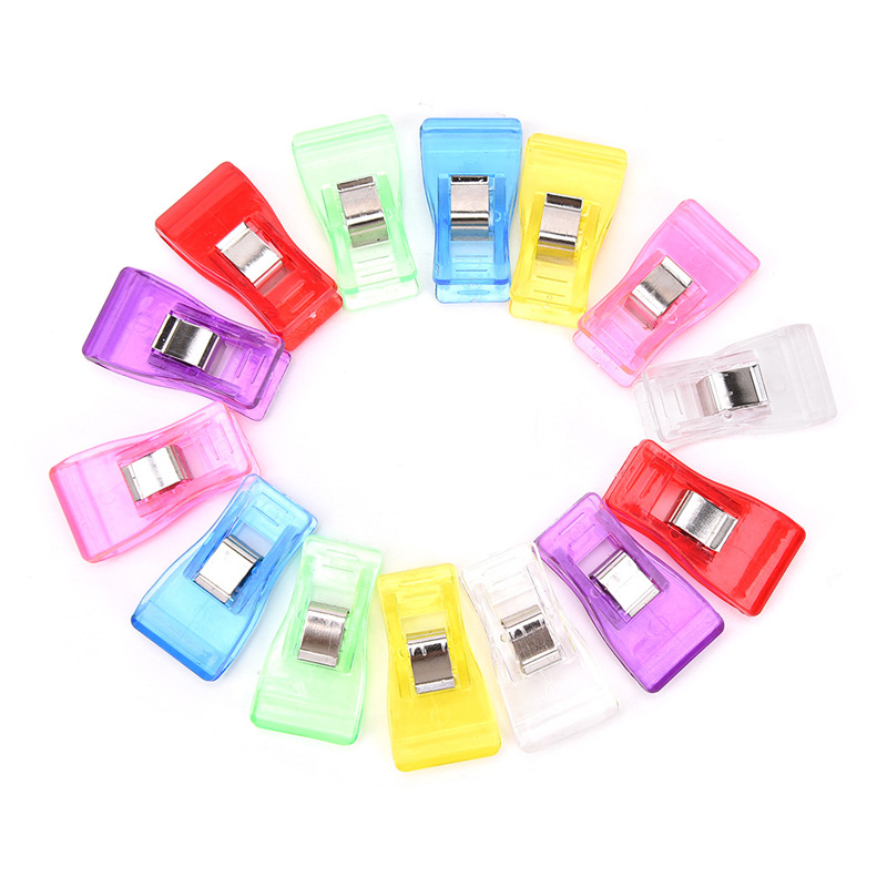 10PCS Colorful Sewing Craft Quilt Binding Plastic Clips Clamps Pack For Patchwork Sewing DIY Crafts Drop Shipping