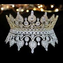 Di lusso retrò Europeo corona sposa corona banchetto abito da sposa accessori gioielli A00345