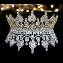 Luxe Europese Retro Kroon Bruid Kroon Banket Trouwjurk Sieraden Accessoires A00345