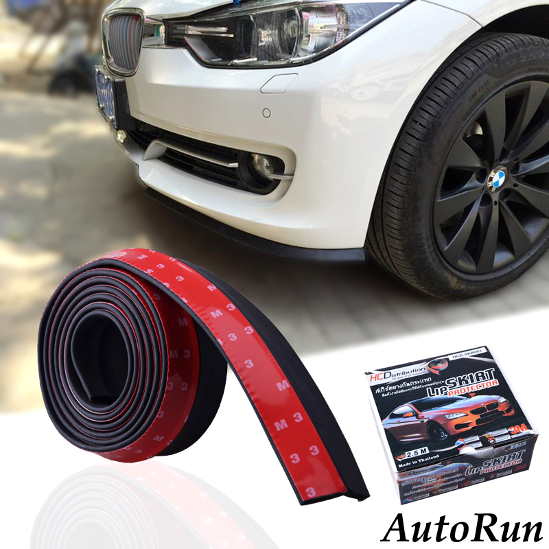 Free Shipping 100 Universal Protector Rubber Strip For Car Bumper
