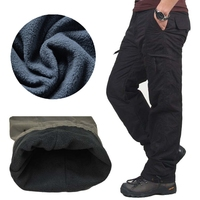 Winter Double Layer Men S Cargo Pants Warm Outdoor Sports Baggy Pants Cotton Trousers For Men