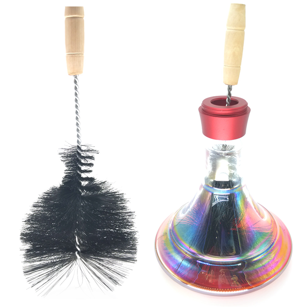 LOMINT Hookah Glass Bottle Base Cleaning Brush For Shisha Hookahs Narguile Chicha Smoking Water Pipe Accessories