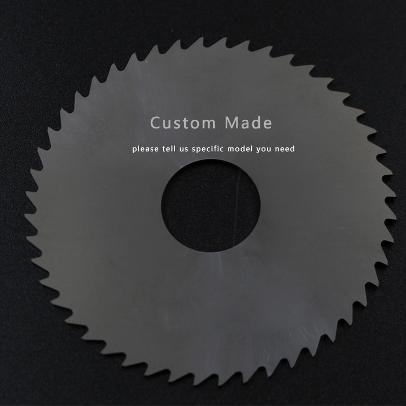 2PCS Milling Saw Blade 125mm Thick 1mm to 3mm 80T Solid Carbide Round Slitting Saw Cutter CNC Metal Stainless Steel Cutting Tool slitting knife for cutting stainless steel sheet