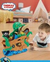 Оригинальный сплав Томаса серии приключений морского монстра raiders приключенческий комплект FVY83 Детский Пиратский Корабль игрушки подарки