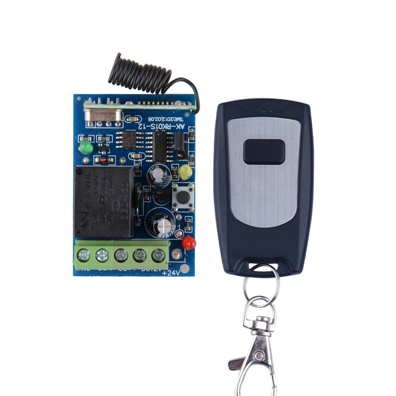 DC 12V 1CH Wireless Remote Switch Light System Receiver Transmitter 433 92Mhz 315MHZ Learning code Function