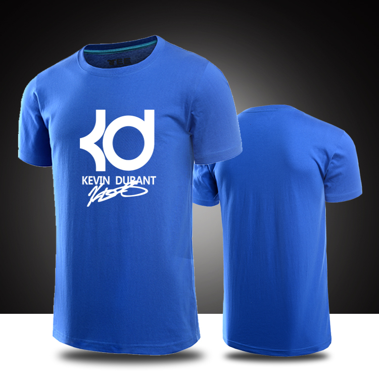 Kevin Durant T Shirts Cotton short sleeve t shirt KD signature t shirt  Durant Jersey Summer Men top Shirts-in T-Shirts from Mens Clothing   Accessories on ...