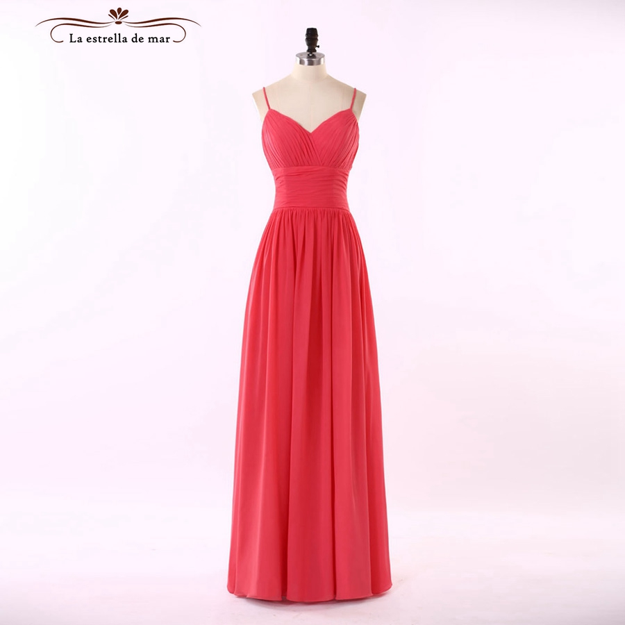 Vistido de madrinha de casamento longo 2018 new sexy sweetheart A Line watermelon red Bridesmaid Dresses real photo vestido boda