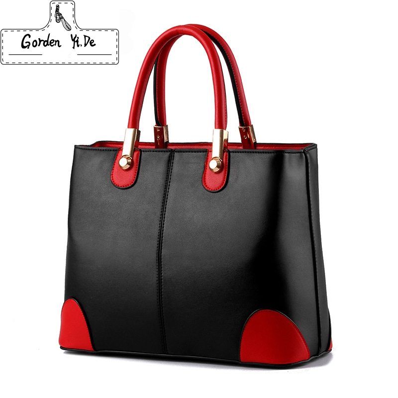Gorden Yi De Brand 2017 New PU Leather Luxury Handbags Women Shoulder Bags Designer High Quality Ladies Caual Tote Handbag 0031