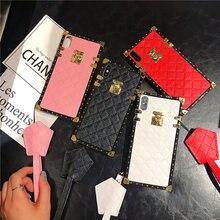 Роскошный брендовый квадратный Кожаный чехол в клетку для Samsung Galaxy S20 Ultra S10 Plus S21 Plus S8 S9 Note 20 10 8 9 A71 A50 A51 A70