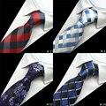 1200 Иглы Качество 100% Шелковые Мужские Галстуки Плед Полосатый Шеи галстуки для Мужчин Носить Классический Бизнес Свадьба Gravatas 2016 новый