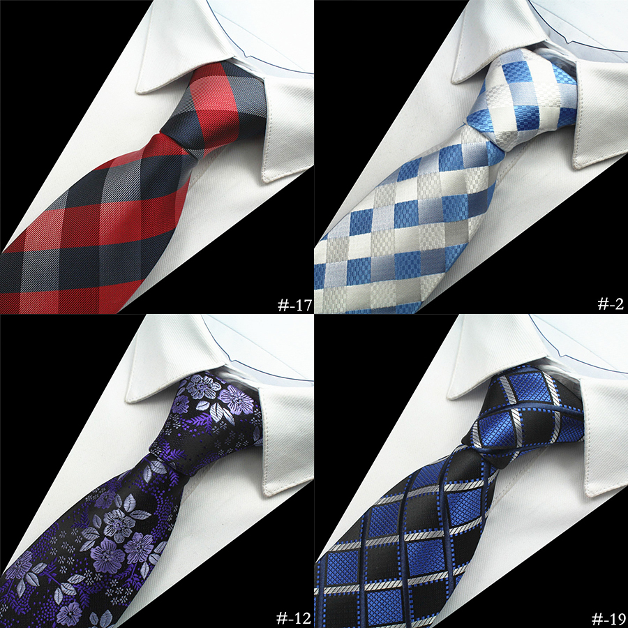 JEMYGINS 1200 Needles Kvalitet 100% Silke Men Slips Plaid Striped Neck Ties för män Klassisk Slitage Business Wedding Party Gravatas