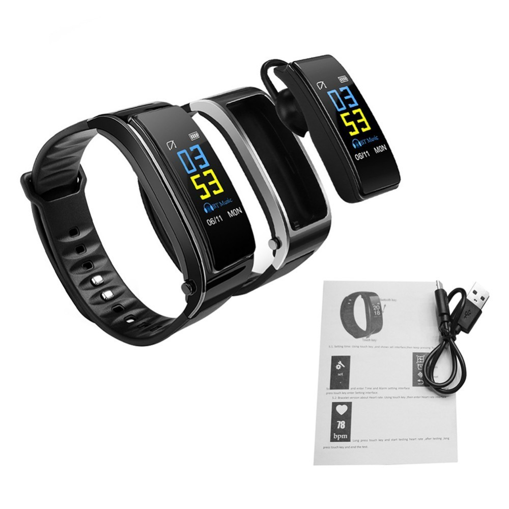 Bluetooth Y3 Color Headset Talk Smart Band Bracelet Heart Rate Monitor Sports Smart Watch Passometer Fitness Tracker Wristband