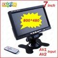 Um pedaço de 7 Polegada (800*480) TFT LCD HD Monitor Do Carro Rear View Monitor de Encosto de cabeça Do Carro com 2 Canais De Entrada De Vídeo G-788 GGG