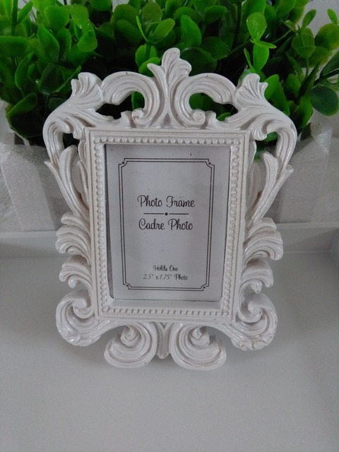 White baroque photo frame wedding place card holder picture frame-in ...