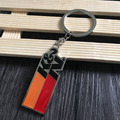 1pc K&N Car modification air filter metal keychain 3D zinic alloy key chain ring car creative fashion accessory red & orange