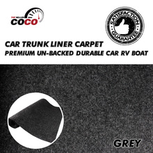 Изоляция Шум Управление водонепроницаемые чехлы ковер автомобиля Лодка на колесах Underfelt Динамик Box кабинет серый коврик 16 «x 80» 40 см x 200 см