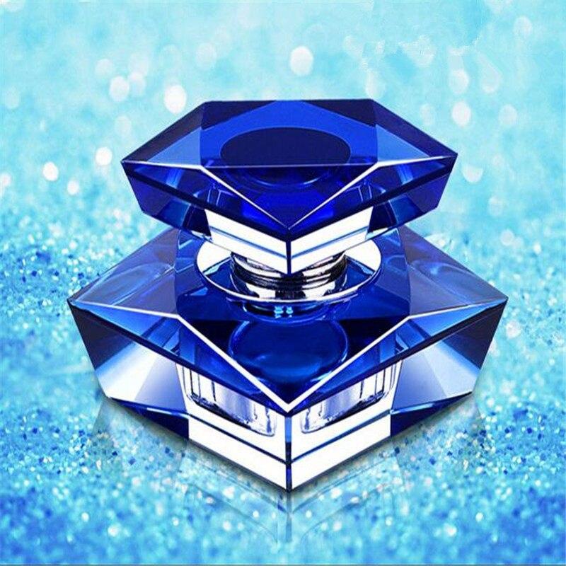 1 х элегантный K9 кристалл автомобиля духи сиденье автомобильный ароматизатор бутылка база набор без духов - Название цвета: Blue