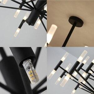 Image 5 - Современная модная дизайнерская Потолочная люстра черного и золотого цвета, Подвесная лампа в стиле арт деко светильник кухни, гостиной, лофта, спальни