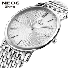 NEOS Brand 2017 New Men 's Watch Ultra – Thin Simple Fashion Casual Waterproof Women  Quartz  Steel Belt Watches