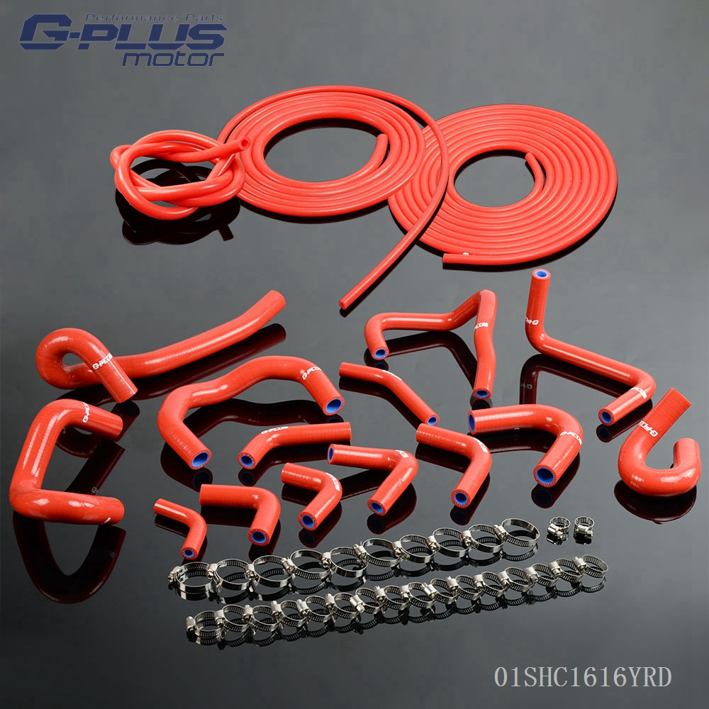 Silicone Radiator Hose For Nissan Skyline GTR R33 R34 RB26DET + Vacuum Kit воздухозаборник silicone vacuum hose 2