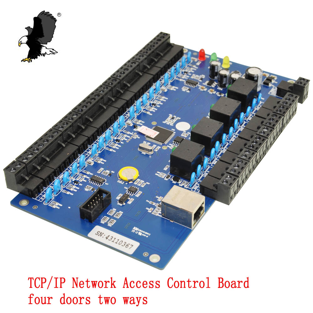 Direct Factory Generic Wiegand CA-3240BT Access Control Board TCP/IP Network Intelligent Four Doors Two Ways Support  WG26 Carea sdk two doors two ways input output ports 30000 user tcp ip network zk c3 200 door access control board