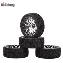 4PCS 1:10 Aluminium Op Road Banden Metalen Velg voor 1:10 HSP HPI RC Drift On-Road racing Car Touring Upgrade Onderdelen(China)