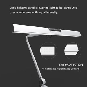 Image 2 - A509 Desk Lamp LED Light Swing Arm Architect Clamp Touch Table Lamp for Reading Working Silver 2 Lighting Modes,4 level Dimmable