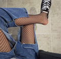 Medias medias Atractivas del Fishnet Máximos De Las Mujeres pantalones vaqueros Del Agujero de Malla de Nylon Stocking Pantyhose Femenino de La Cintura de Las Señoras Negro Medias Largas