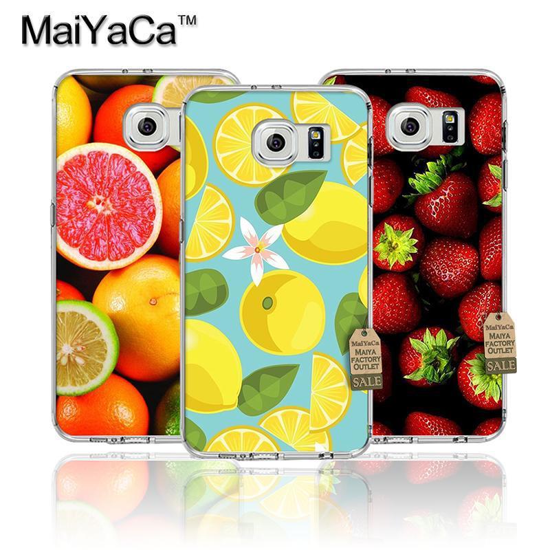 Summer watermelon fruit lemon teléfono accesorios cubierta transparente tpu soft