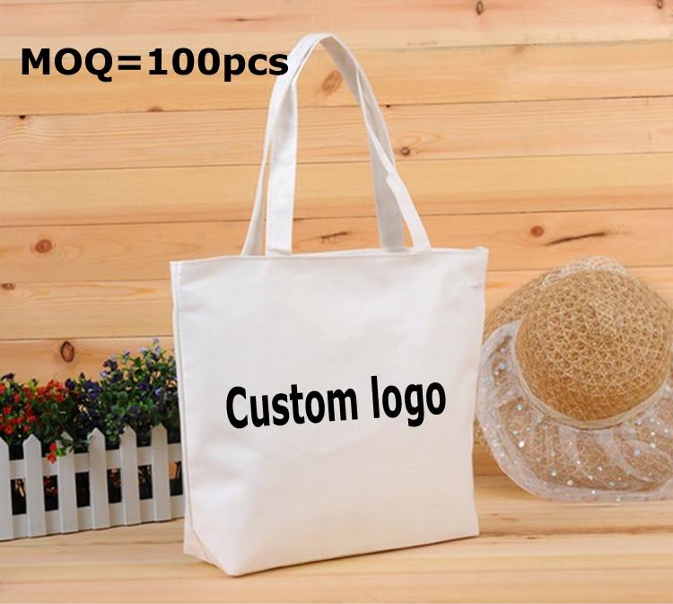 egyedi nyomtatott logó ajándék vászon táska / pamut táska - Ünnepi és party kellékek
