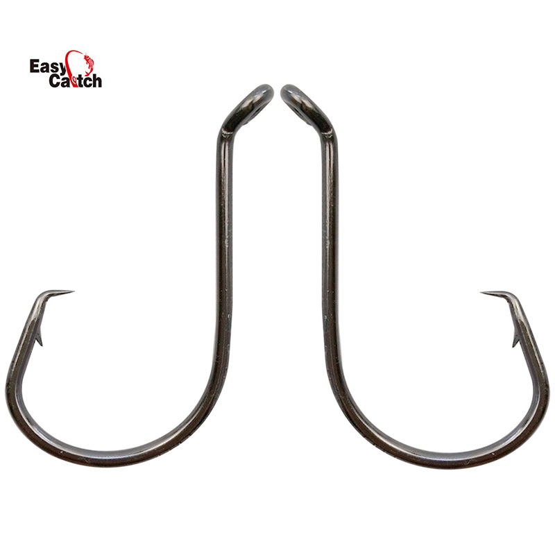 25 Size 10//0 Custom Offshore Tackle Offset Circle Fishing Hooks 7384