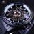 Forsining 2016 Rotating Bezel Projeto Do Esporte Banda de Silicone Dos Homens Relógios Top Marca de Luxo Moda Casual Relógio Relógio Automático Preto