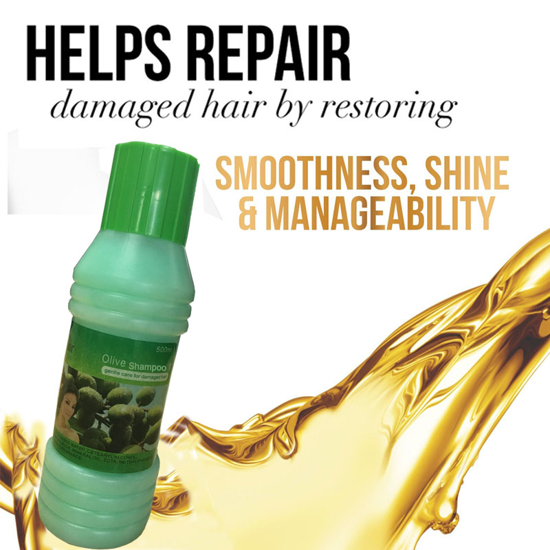 Ekstrak Zaitun Kerosakan Menyuburkan Syampu diperbaiki Melicinkan & - Penjagaan rambut dan penggayaan - Foto 3