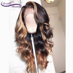 13x6 глубокая часть синтетические волосы на кружеве человеческие волосы Искусственные парики средства ухода за кожей волна 180% плотность