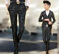 2016 Blazer Pants Masculino Casual Baroque Skinny Print Suit Pants Floral Red Mens Luxury Trousers Slim Trendy Vintage Outfits